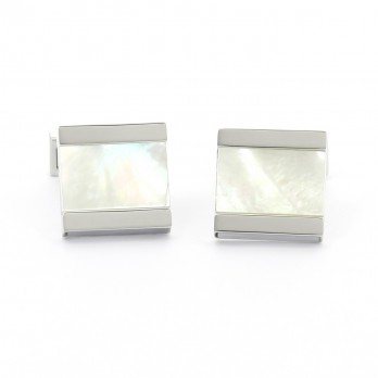 Mother of pearl squared cufflinks - Minkebe