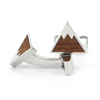 Wooden mountain cufflinks - Aspen
