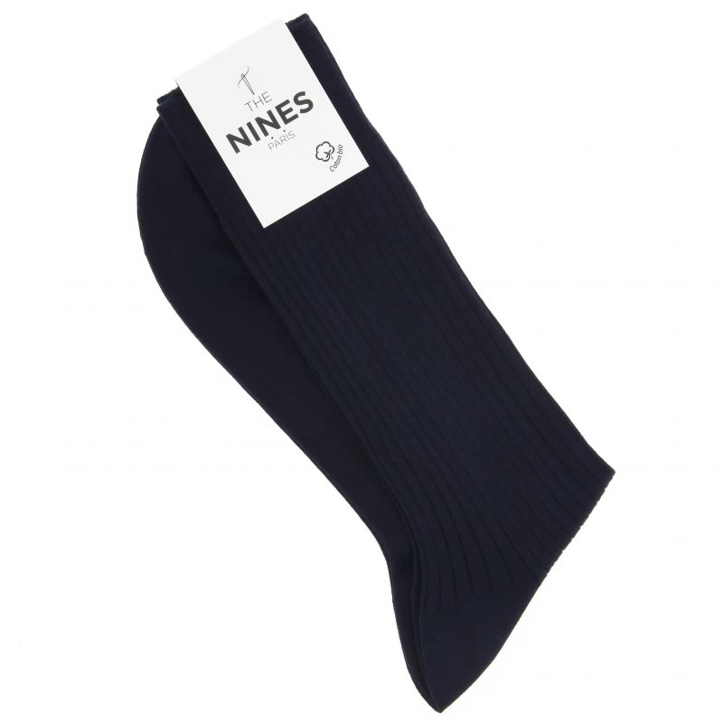 Navy blue organic Giza cotton socks