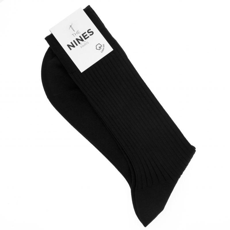 Black organic Giza cotton socks
