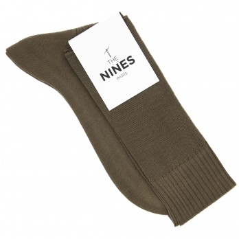 Hazelnut cotton lisle knee socks