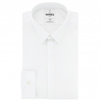White French collar poplin shirt