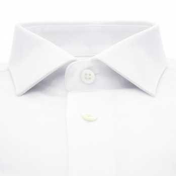 White shark collar bio-cotton oxford shirt