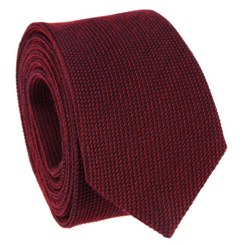 Burgundy Tie in Grenadine Silk and Wool