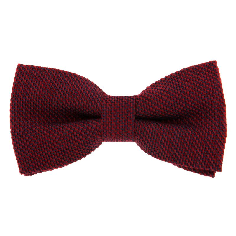 Burgundy Bow Tie in Grenadine Silk and Wool