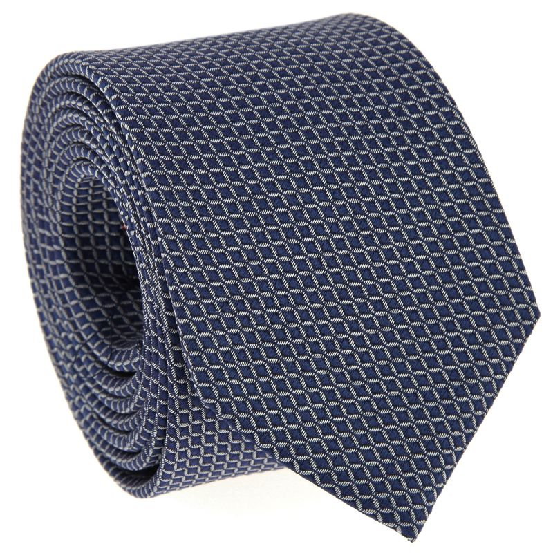 e3442b4b4f12a Navy Blue Tie with White Squares - Squared Ties
