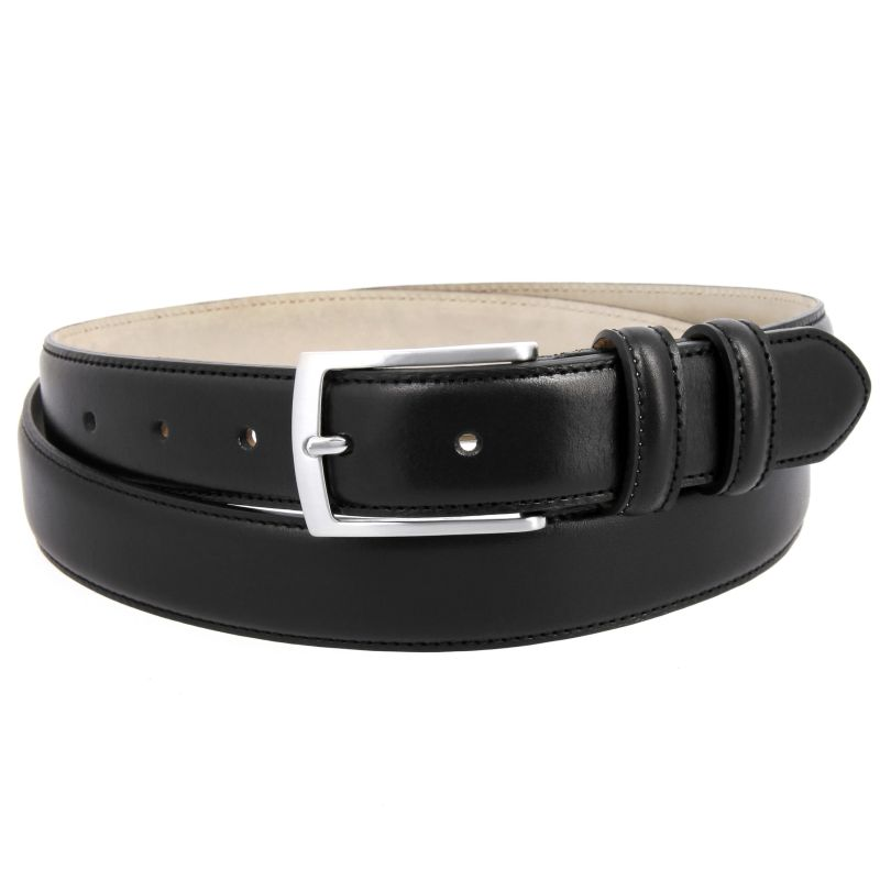 Black leather belt - Ugo