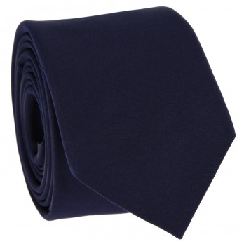 Dark Blue Tie in Satin silk - Monte Carlo