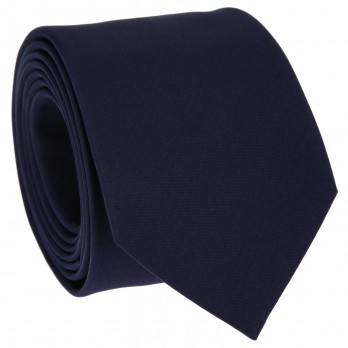 Dark Blue Slim tie in Satin silk - Monte Carlo