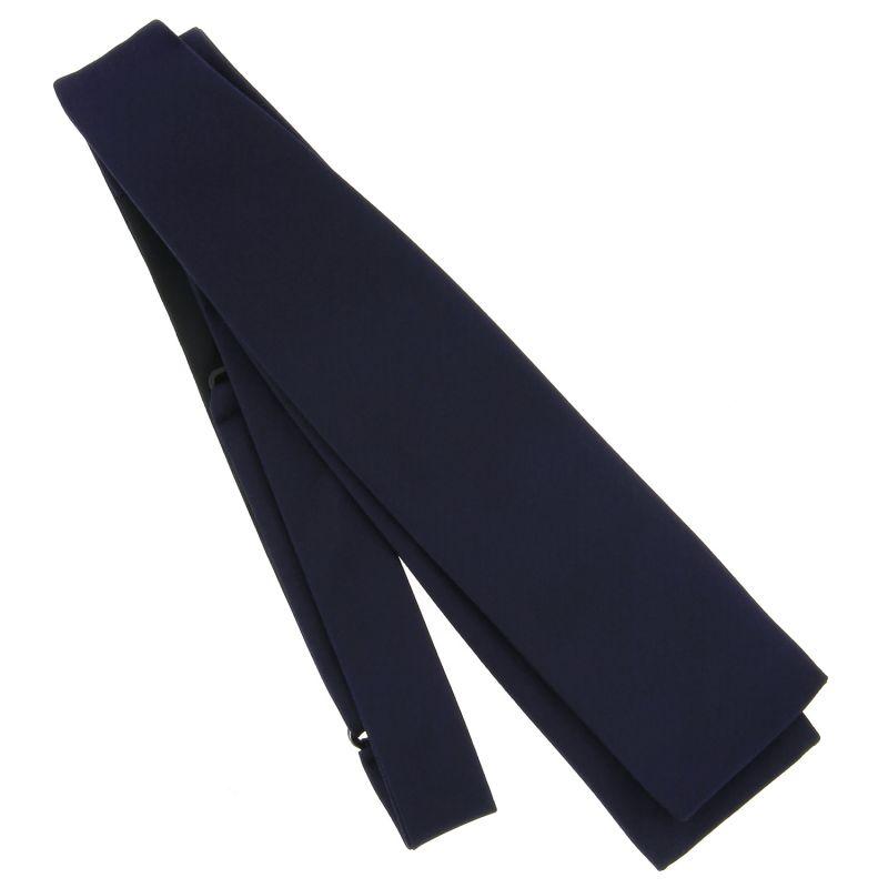 Dark Blue Slim Self-Tie Bow Tie in Satin silk - Monte Carlo