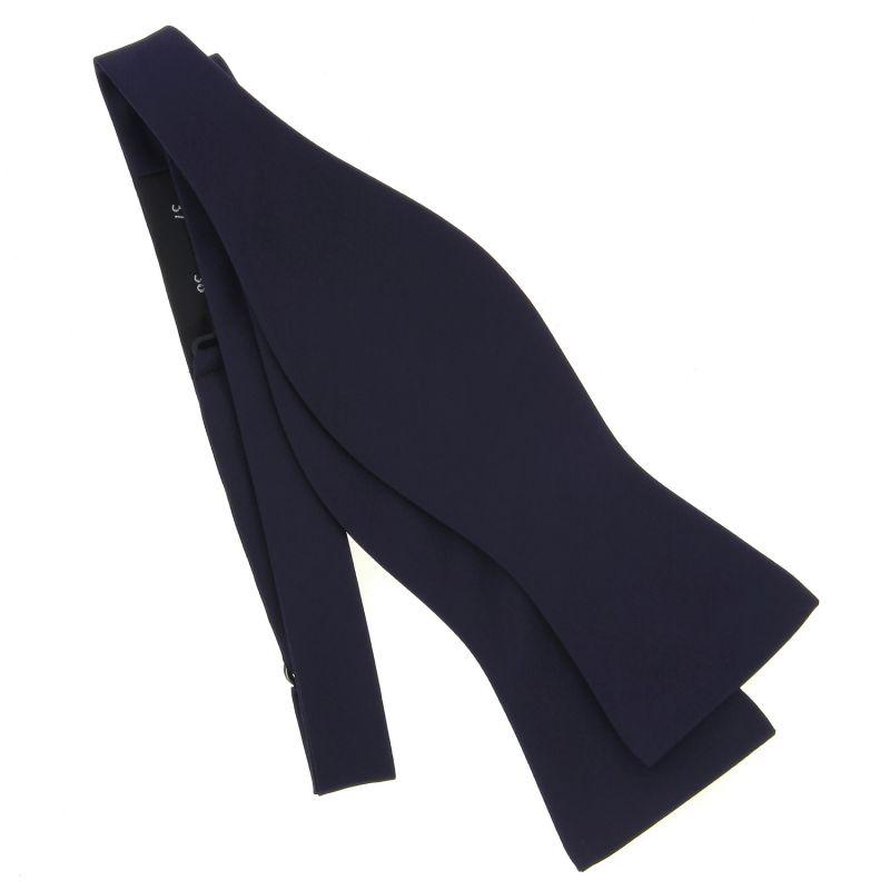 Dark Blue Self-Tie Bow Tie in Satin silk - Monte Carlo