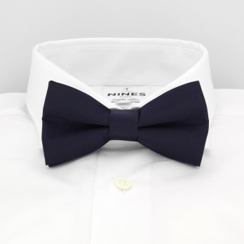 Dark Blue Bow Tie in Satin silk - Monte Carlo