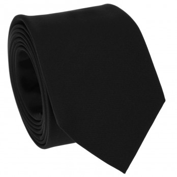 Black Slim tie in Satin silk - Monte Carlo