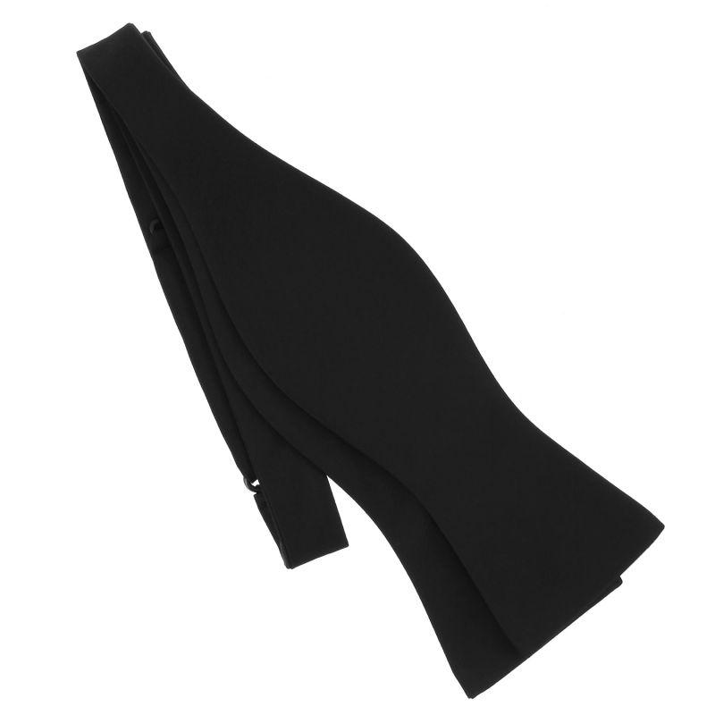 Black Self-Tie Bow Tie in Satin silk - Monte Carlo