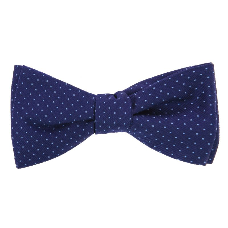 Blue Bow Tie with Light Blue Dots in Silk - Washington DC