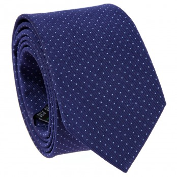 Blue Tie with Light Blue Dots in Silk - Washington DC