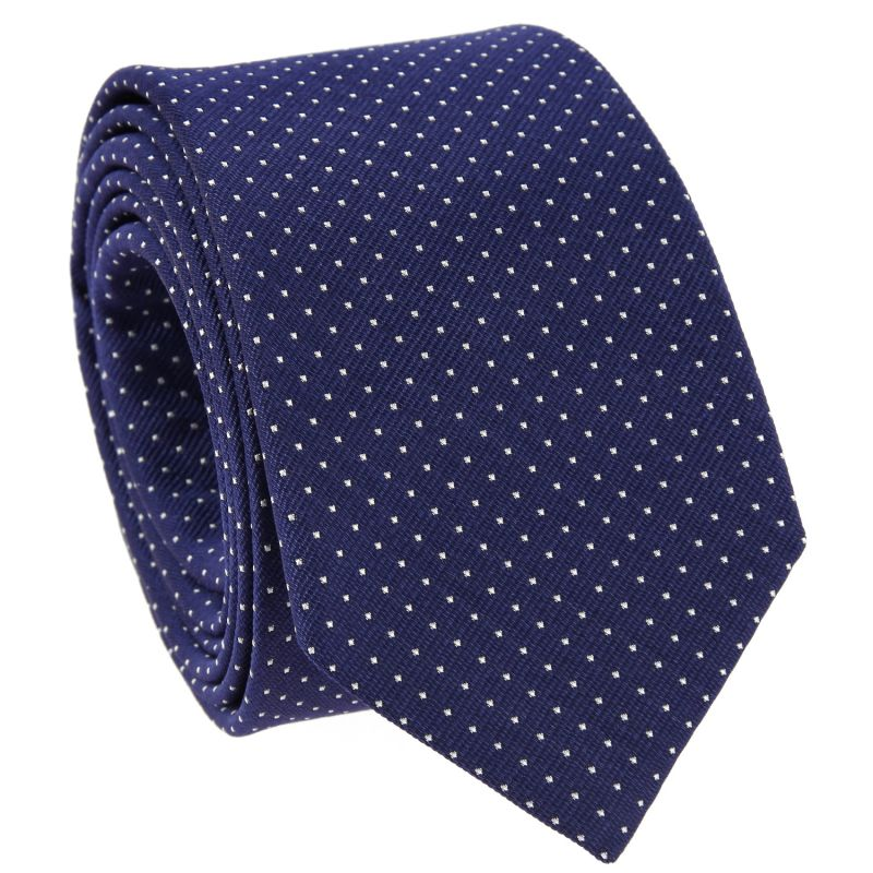 9cadd5387511 Navy Blue Tie with White Dots - Polka-dot Ties