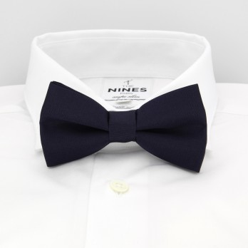 Dark Blue Bow Tie in Silk - Côme
