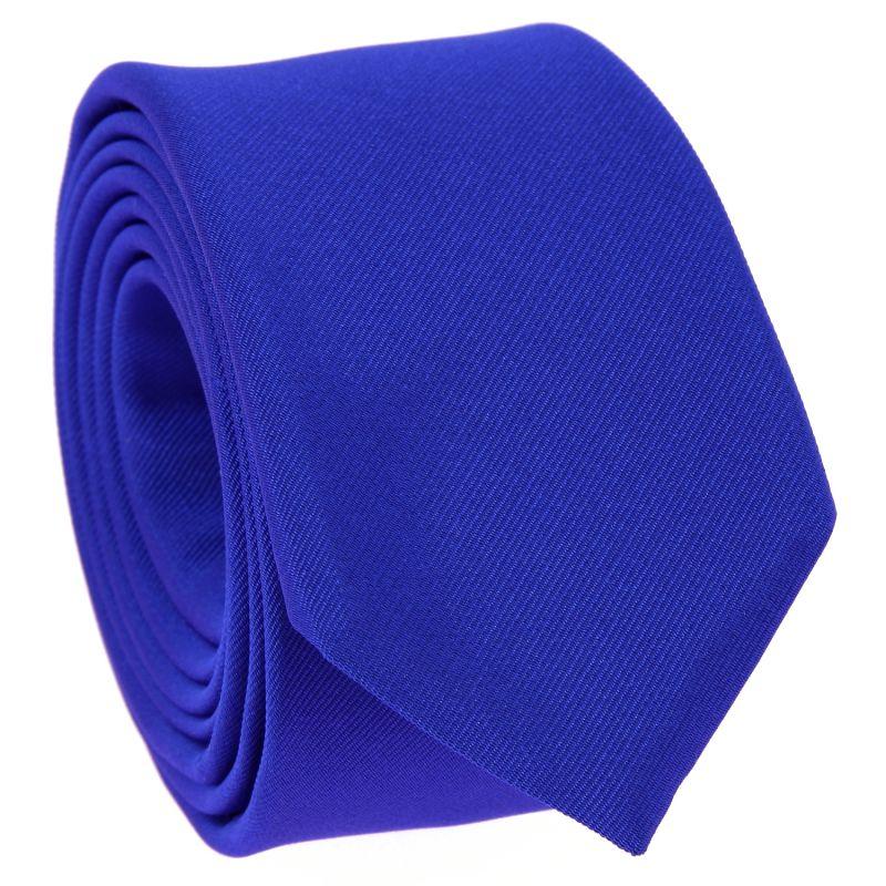 Electric Blue Slim tie in Silk - Côme