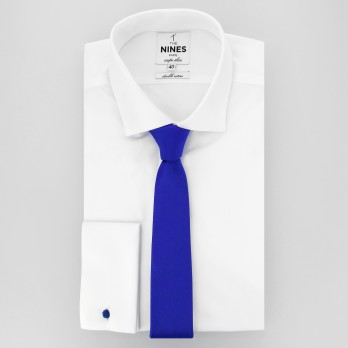 Electric Blue Slim tie in Silk - Côme