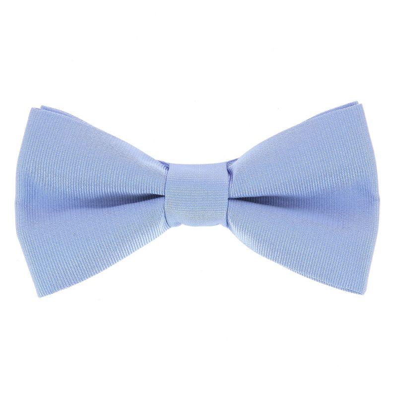 Light Blue Bow Tie in Silk - Côme