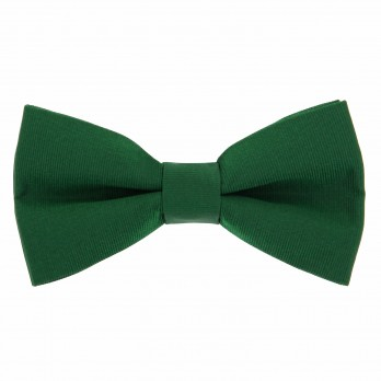 English Green Bow Tie in Silk - Côme