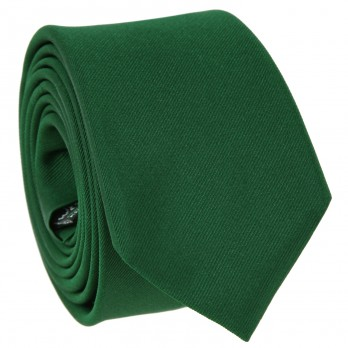English Green Slim tie in Silk - Côme