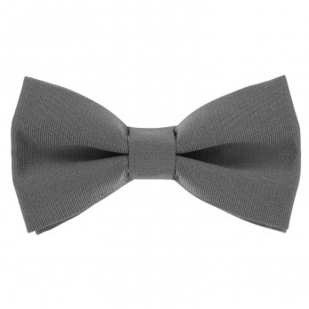 Grey Bow Tie in Silk - Côme