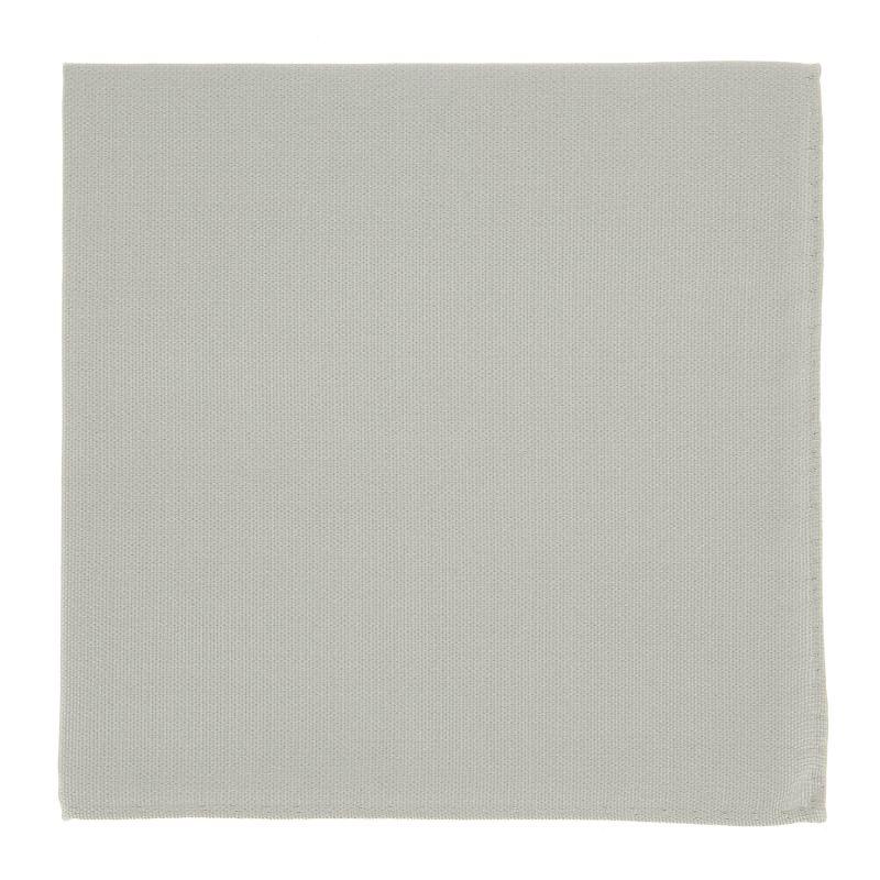 Light Grey Pocket Square in Silk - Côme