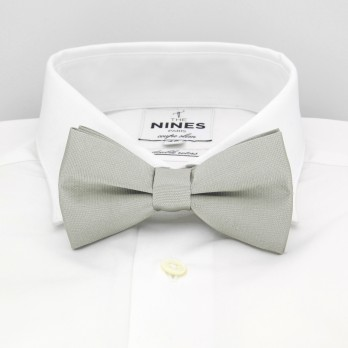 Light Grey Bow Tie in Silk - Côme