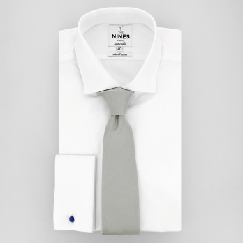 Light Grey Tie in Silk - Côme