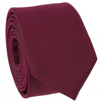 Raspberry Slim tie in Silk - Côme