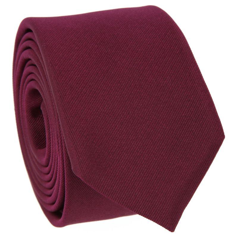 Raspberry Slim tie in Silk - Côme