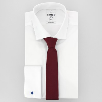 Burgundy Slim tie in Silk - Côme