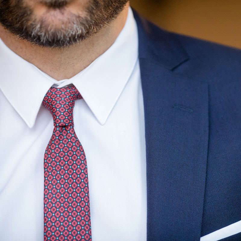 White French collar poplin shirt