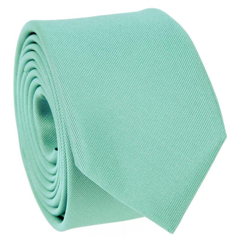 Water Green Slim tie in Silk - Côme