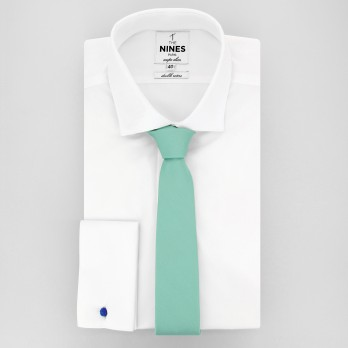 Water Green Slim tie in Silk - Côme