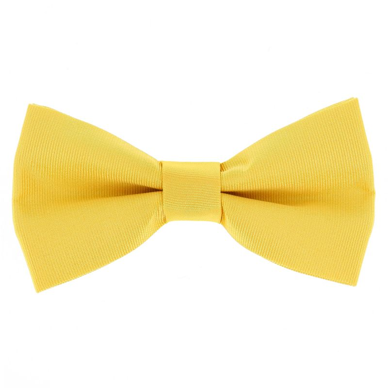 Yellow Bow Tie in Silk - Côme