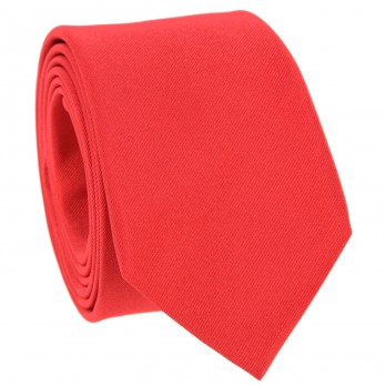 Coral Red Tie in Silk - Côme