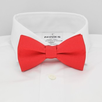 Coral Red Bow Tie in Silk - Côme