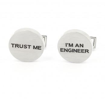 Engineer cufflinks - Trust Me I'm An Engineer
