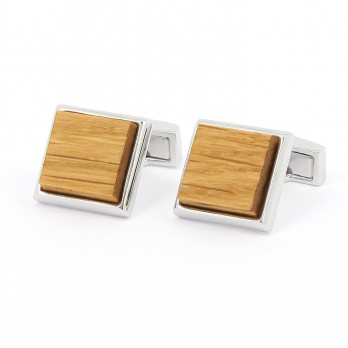 Wood squared Chevreuse cufflinks