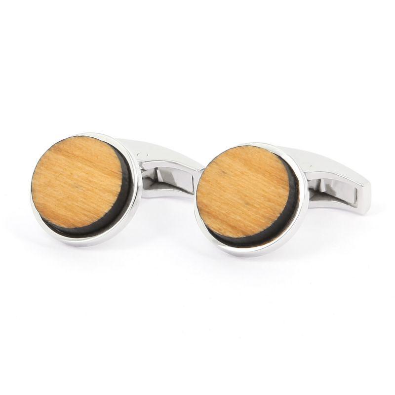 Silver round Compiegnes cufflinks