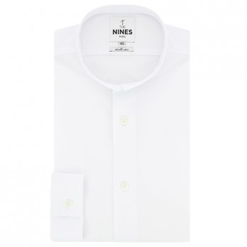 White small reverse collar poplinshirt