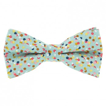 Green Bow Tie Confetti Pattern