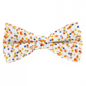 White Bow Tie Confetti Pattern