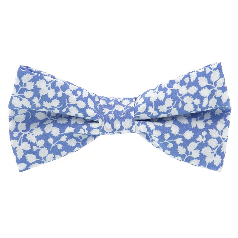 a5ce99a4a8b2 Light Blue Bow Tie with Flowers - Liberty Bow Ties