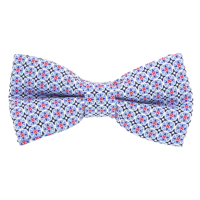 Bow Tie with Blue Mosaic Pattern