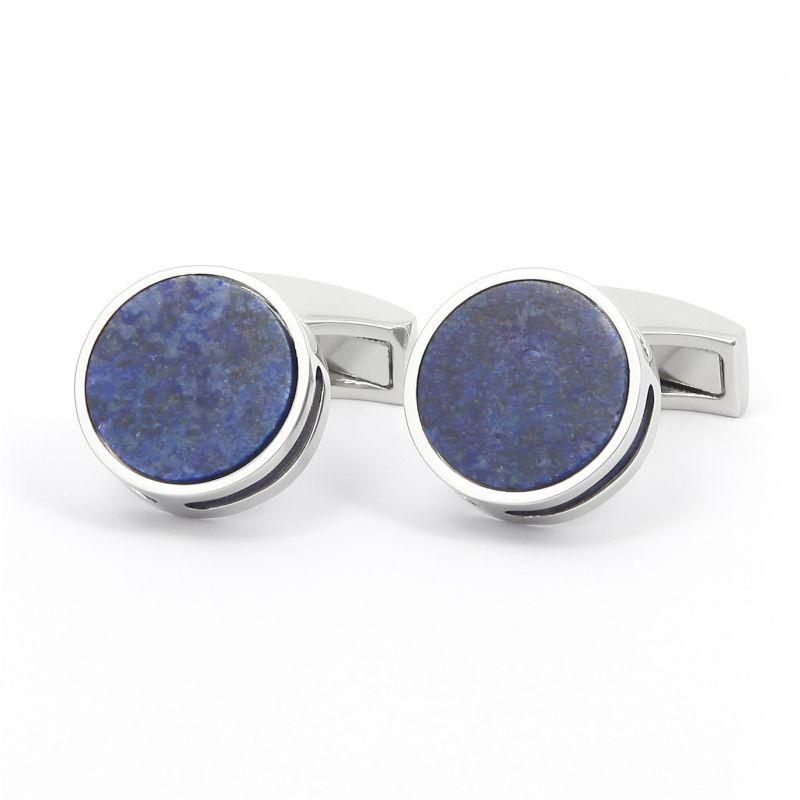 Lapis Lazuli round cufflinks - Libreville