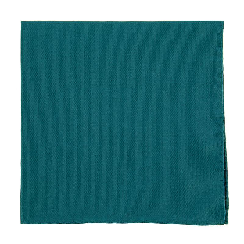 Petrol Blue Pocket Square in Silk